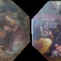 Restauration esthétique : élimination des vernis anciens et jaunis, comblement des lacunes, vernissage et réintégration illusionniste par glacis.